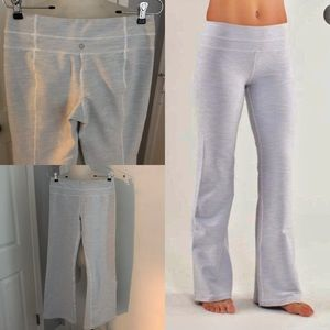 LULULEMON Groove light gray flare yoga pants